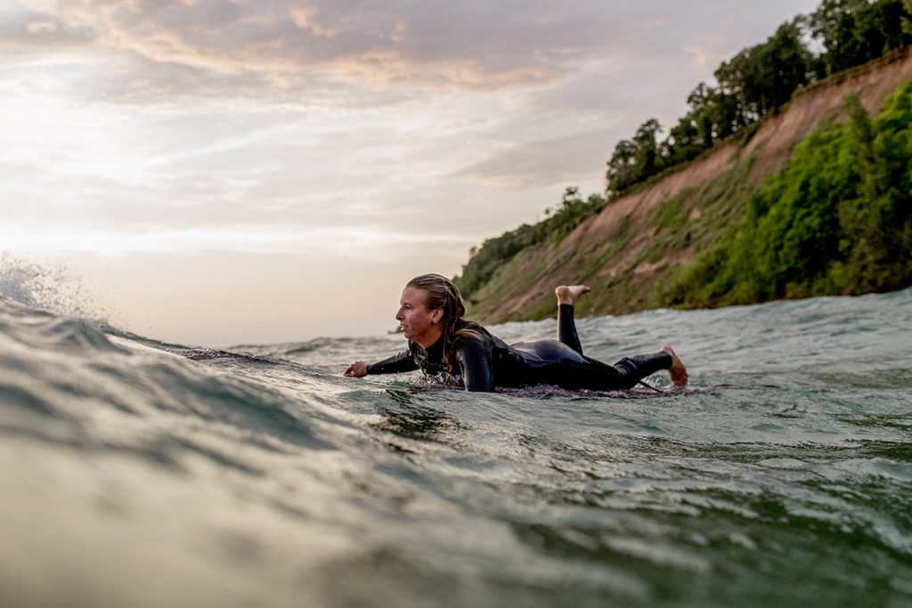 Shredding Water In Winter For The Love Of The Great Lakes